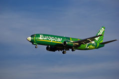 Kulula Airways - Boeing 737-4S3 - ZS-OAO. One of only three of a series of aircraft painted with individual livery to represent the Europcar international Royalty Free Stock Image