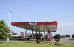 Kum and Go Gas Station, Jonesboro, Arkansas Royalty Free Stock Images