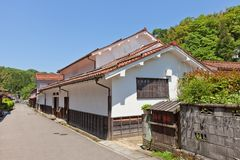 Kumagai-Wohnsitz von Iwami Ginzan, Omori, Japan Lange Belichtung Stockbild