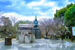 Kumamoto, Ιαπωνία 13 Ιανουαρίου: Άγαλμα της Kato Kiyomasa στον έπαρχο Kumamoto Στοκ Εικόνες