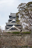 Kumamoto Castle is a hilltop Japanese castle Stock Images