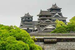 Kumamoto Castle. Is a hilltop Japanese castle in Kumamoto Prefecture. It was a large and extremely well fortified castle Stock Photography