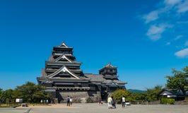 Kumamoto castle. KUMAMOTO, JAPAN - SEPTEMBER 27, 2014: Tourists around Kumamoto castle in Kumamoto, Japan. Kumamoto Castle is a hilltop Japanese castle located Royalty Free Stock Images