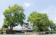 Kumamoto Castle in Kumamoto Japan. Kumamoto,Japan - May 2, 2014: Kumamoto Castle is a hilltop Japanese castle located in Chūō-ku, Kumamoto in Kumamoto Royalty Free Stock Images