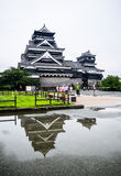 Kumamoto Castle. Reflection after raining Stock Photos