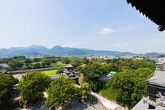 Kumamoto Castle top view in Kumamoto Japan. Kumamoto,Japan - May 2, 2014: Kumamoto Castle is a hilltop Japanese castle located in Chūō-ku, Kumamoto in Kumamoto Stock Photos