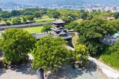 Kumamoto Castle top view in Kumamoto Japan Royalty Free Stock Images