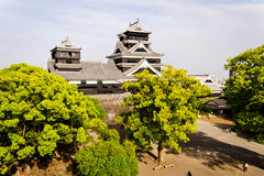 Kumamoto castle view in Japan Stock Photo