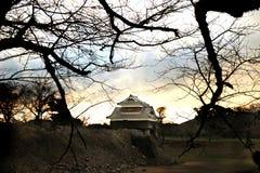 KUMAMOTO - DEC,16 : Landscape of Kumamoto castle, a hilltop Japa. Nese castle located in Kumamoto Prefecture on the island of Kyushu.The main castle was damaged Stock Images