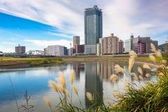 Kumamoto Japan River Cityscape Royalty Free Stock Photography