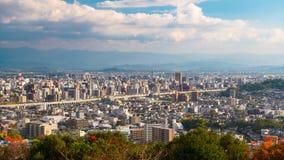 Kumamoto, Japan Skyline Time Lapse stock footage