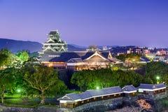 Kumamoto Japan slott Arkivbilder