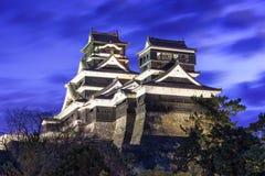 Kumamoto Japan slott Royaltyfri Fotografi