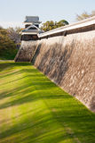 Kumamoto medieval castle wall Royalty Free Stock Photos