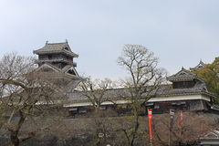 Kumamoto slott Royaltyfria Foton