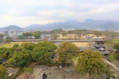 Kumamoto slott Fotografering för Bildbyråer