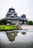 Kumamoto slott Arkivfoton