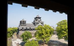 Kumamoto slott i Kumamoto Japan Royaltyfria Bilder