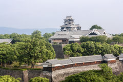 Kumamoto slott - Kyushu, Japan Arkivbilder