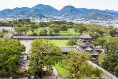 Kumamoto stadspanoramautsikt Arkivbilder