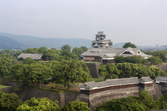 Kumamotokasteel in Kyushu, Japan Royalty-vrije Stock Afbeelding