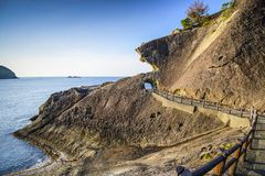 Kumano, береговая линия Японии Стоковое Изображение