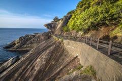 Kumano, Japonia przy Onigajo skałami Zdjęcie Stock