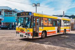 Kumano loop bus in Wakayama, Japan Royalty Free Stock Image