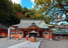 Kumano Nachi Taisha Grand Shrine i Wakayama, Japan royaltyfria foton