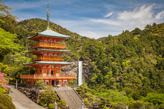 Kumano Nachi Taisha Shrine. And Nachi no Taki Waterfall at Wakayama prefecture , Japan Stock Photo