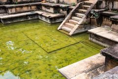 Ruins of Kumara Pokuna in Polonnaruwa Royalty Free Stock Image
