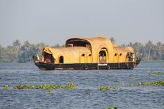 Kumarakom的,喀拉拉船库 库存图片