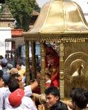 Kumari à Katmandou Images libres de droits
