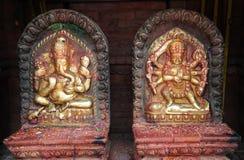 Kumari Amman and Ganesh. Statue portraying an image of Kumari Amman (Kanya Kumari) and Ganesh (Ganesha) in Nepal Royalty Free Stock Photos