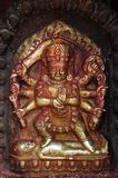 Kumari Amman of het standbeeld van Kanya Kumari in Nepal Stock Afbeeldingen