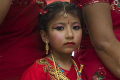 Kumari Child Royalty Free Stock Images