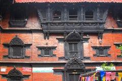 Kumari Ghar (Kumari Chowk), Katmandu, Nepal Royalty-vrije Stock Foto's