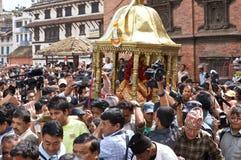 Kumari in Kathmandu Nepal Royalty Free Stock Photos