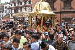 Kumari in Katmandu Nepal Royalty-vrije Stock Foto's