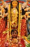 Kumari Puja i Belur matematik Arkivbild