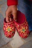 Kumari's slippers, Durbar Square, Kathmandu, Nepal. Royalty Free Stock Photography