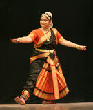 Kumari Sharanya performs Bharatanatyam dance Stock Photography