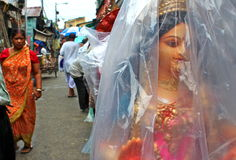 Kumartul, Durga Puja Photo stock