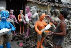 Kumartuli-Idol making aria Royalty Free Stock Image