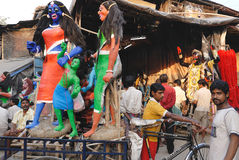 Kumartuli-Idol making aria Stock Photography