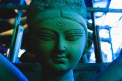 Kumartuli, il Bengala Occidentale, India, 2016: Modello fatto a mano dell'argilla di fotografie stock