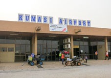 Kumasi Airport, Ghana. KUMASI, GHANA - JANUARY 24, 2012: Kumasi Airport entrance in Ghana. Kumasi is one of the largest cities of Ghana. Kumasi is among the Royalty Free Stock Photos