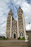 St Peter`s Cathedral, Kumasi, Ghana. Kumasi, Ghana: 21st July 2016 - The front of the grand St Peter`s Cathedral Basilica in Kumasi, West Africa royalty free stock photos