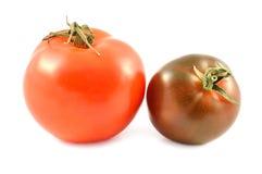 Kumato tomat och röd tomat Royaltyfri Fotografi