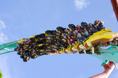 Kumba Roller Coaster Closeup Busch Gardens Royalty Free Stock Images